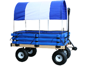 Millside Convertible Canopy Wagon w Pads20 x 38 - Blue - Canadian Made